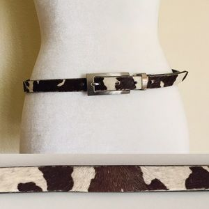 Brown Calf Hair Belt